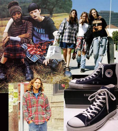 LOOK 2 YO QUIERO SER COBAIN Los amantes de la música grunge siempre combinaban poleras con el nombre de sus artistas ojalá en tonos negros, camisas estilo