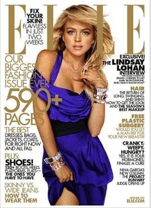 Lindsay Lohan para Elle