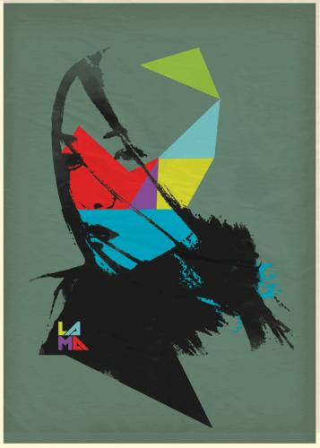 Lama 2009, serigrafía sobre nylon