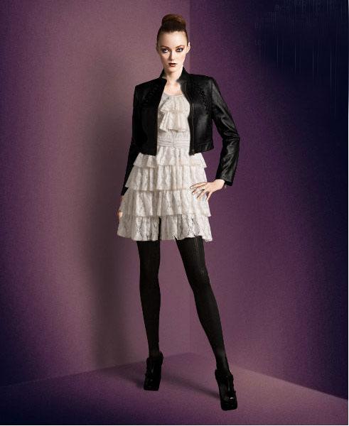 Collares para vestido blanco y negro