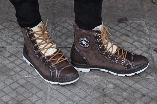 zapatos converse hombre cuero