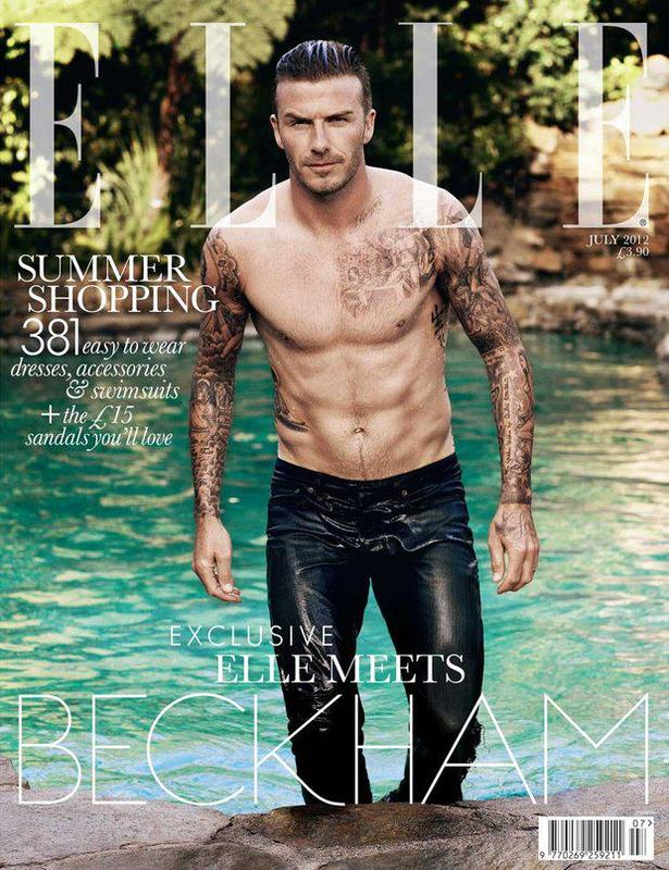David Beckham en Elle