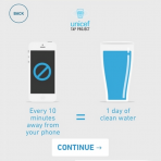 UNICEF Tap Project: Giorgio Armani donará un vaso de agua por cada 10 minutos que tú no toques tu teléfono