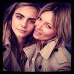Kate Moss y Cara Delevingne juntas para Burberry