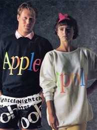 """The Apple Collection"", la poco exitosa línea de ropa que Apple lanzó en 1986"