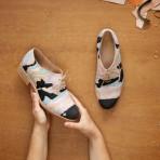 Geología en tus zapatos: Los diseños cartográficos de Barbora Veselá