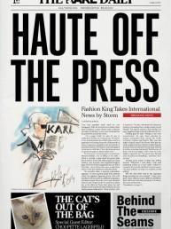 Periódicos de moda: The Karl Daily, el nuevo negocio de Karl Lagerfeld