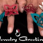 Jewelry Greetings: Tarjetas de agradecimiento en formato de joyería de papel