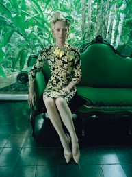 The Surreal World: Tilda Swinton para Revista W, diciembre 2014