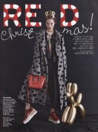 Una roja Navidad con Vogue Corea, 2014