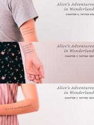 Litographs Tattoos: La cadena de 2.500 tatuajes que completan el texto de clásicos de la literatura