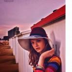 Lieve Dannau en revista Elle, enero 2014