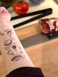 I Tradizionali: tatuajes temporales de recetas para tu antebrazo