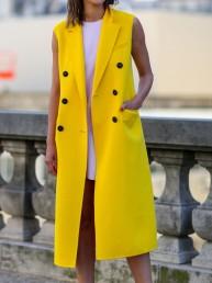 Abrigo sin Mangas, la prenda perfecta para la época de transición