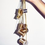 Hilos metalizados en las joyas vintage de Bagavundas