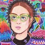 Moda, rostros y figuras geométricas en las ilustraciones de Kevin Arzola