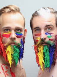 The Gay Beards, el par de amigos artista que se dedica a decorar barbas