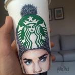 Lyubomir Dochev, el joven ilustrador que retrata personajes fashion en vasos de Starbucks