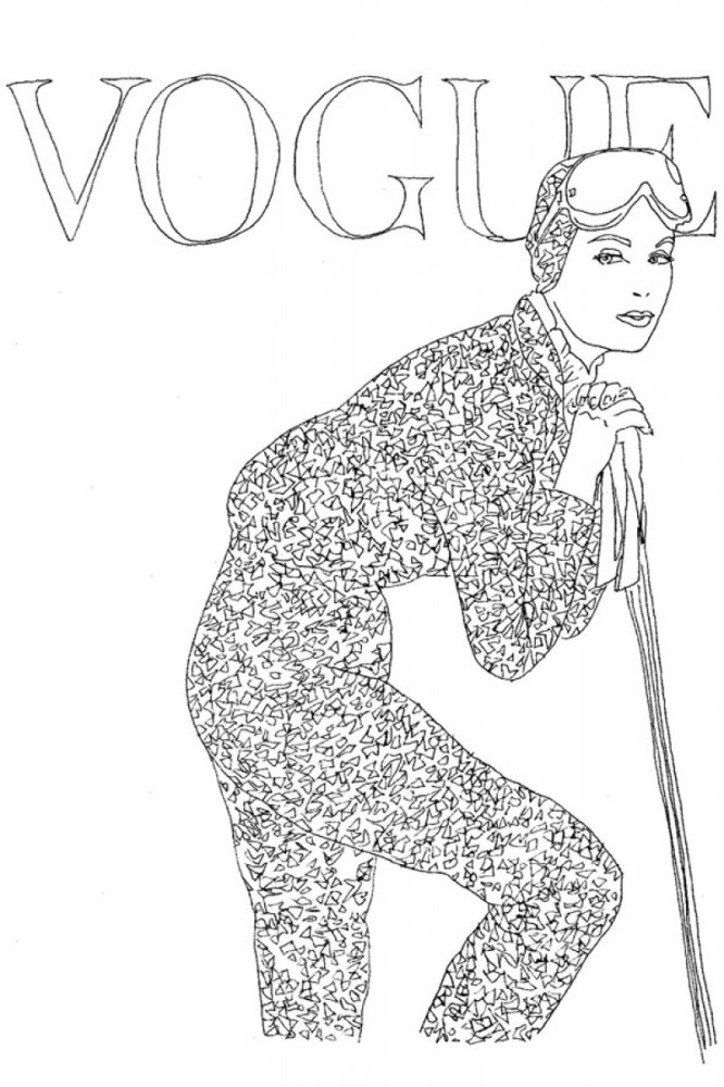 Vogue Coloring Book El Libro Para Pintar De Vogue UK
