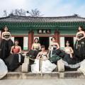 Jeonju hyanggyo hanbok group pose