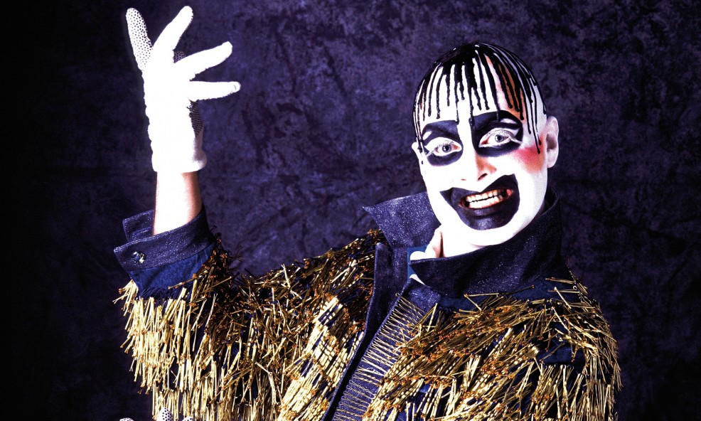 Leigh Bowery in the jacket he customised