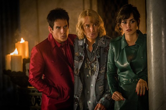 Left to right: Ben Stiller plays Derek Zoolander, Owen Wilson plays Hansel and Penelope Cruz plays Valentina Valencia in Zoolander No. 2 from Paramount Pictures.