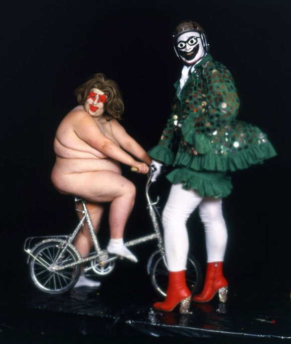 leigh-bowery-right-and-fat-gill-as-miss-fuckit-swimwear-alternative-miss-world-1985-earth