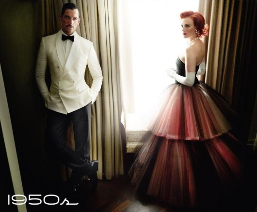 50_David Gandy y Karen Elson