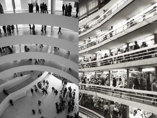 Interiores del Museo Guggenheim y Dos Caracoles : guggenheim.org y flickr.co