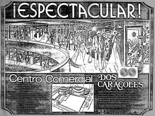 Publicidad grafica de Dos Caracoles en El Mercurio 18:09:1978