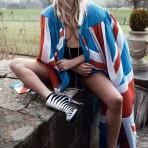 Kate Moss en las prendas de The Rolling Stones, 2016