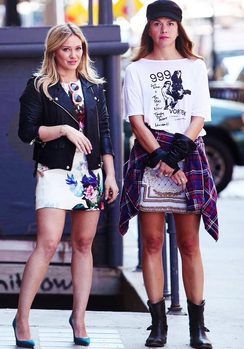 hilary-duff-and-sutton-foster-filming-younger