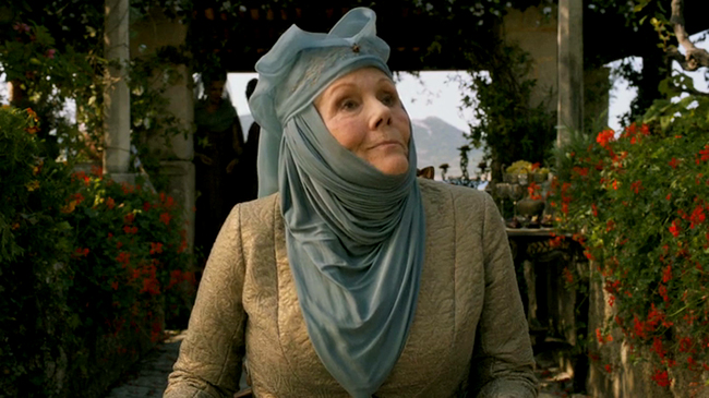 "El pasado glamoroso de Diana Rigg, Olenna Tyrell en ""Game of Thrones"""