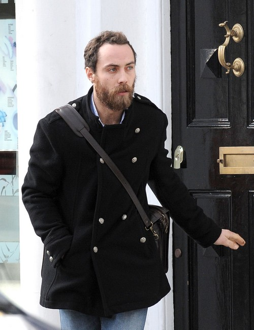 Exclusive... James Middleton Takes Lupo For A Walk After Visit From Donna Air