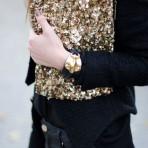 Inspiración visual: Tenidas en negro y dorado para el fin de semana