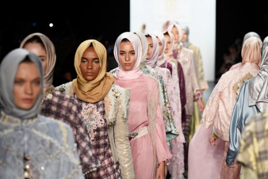 NEW YORK, NY - SEPTEMBER 12: Model walk the runway at the Anniesa Hasibuan during New York Fashion Week: The Shows at The Dock, Skylight at Moynihan Station on September 12, 2016 in New York City. (Photo by Frazer Harrison/Getty Images for New York Fashion Week: The Shows)