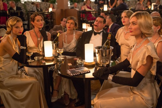 "A still from ""Cafe Society"" showing a group of actresses in Chanel fine jewelry"