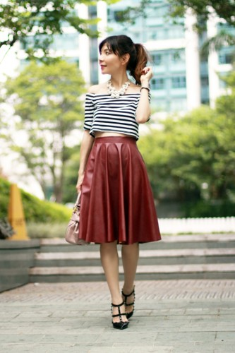 mochaccinoland-leather-midi-skirt