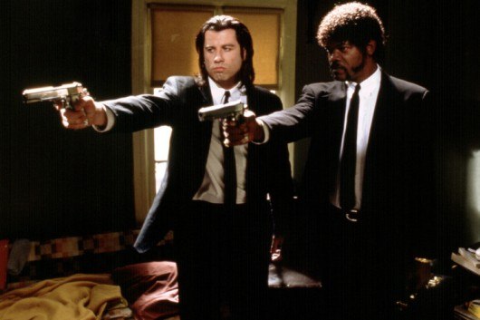 No Merchandising. Editorial Use Only. No Book Cover Usage Mandatory Credit: Photo by Miramax/Everett/REX Shutterstock (563502d) 'Pulp Fiction', John Travolta, Samuel L. Jackson 'Pulp Fiction' Film - 1994