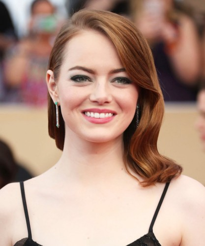 29 January 2017 - Los Angeles, California - Emma Stone. 23rd Annual Screen Actors Guild Awards held at The Shrine Expo Hall. Photo Credit: F. Sadou/AdMedia *** Please Use Credit from Credit Field ***