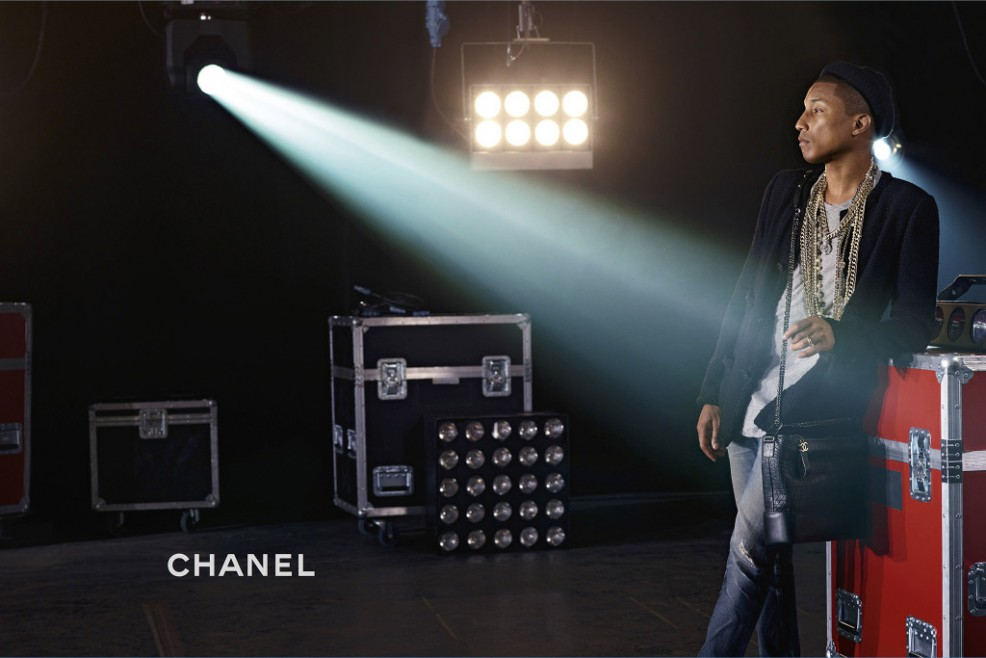Pharrell, shot by Karl Lagerfeld