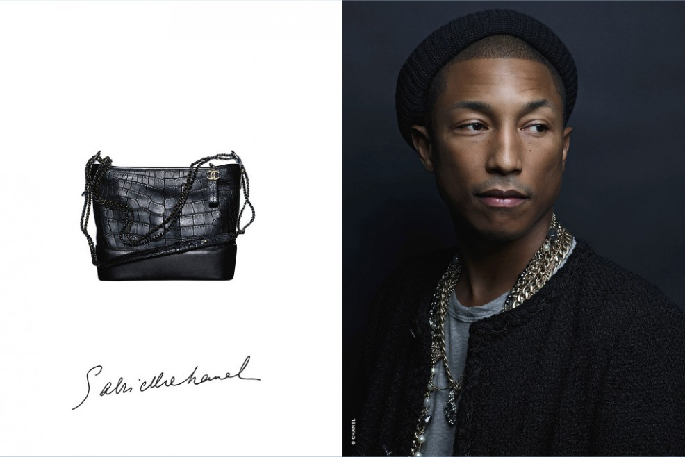 Gabriell handbag, Pharell, shot by Karl Lagerfeld