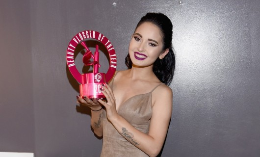 LOS ANGELES, CA - AUGUST 20: Finalist Laura Sanchez poses with award during the 5th Annual NYX FACE Awards on August 20, 2016 in Los Angeles, California. (Photo by Vivien Killilea/Getty Images for NYX Professional Makeup)