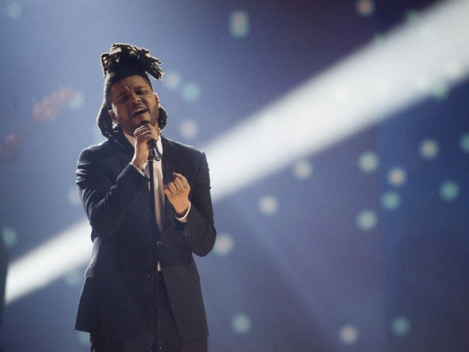 The Weeknd performs during the 2015 Juno Awards in Hamilton, Ont., on Sunday, March 15, 2015. THE CANADIAN PRESS/Nathan Denette