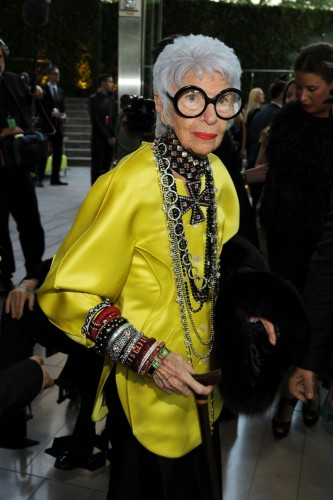 NEW YORK, NY - JUNE 06: Iris Apfel attends the 2011 CFDA Fashion Awards at Alice Tully Hall, Lincoln Center on June 6, 2011 in New York City. (Photo by Larry Busacca/Getty Images)