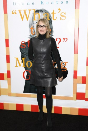 """NEW YORK - NOVEMBER 07: Actress Diane Keaton attends the New York Premiere of """"Morning Glory"""" at Ziegfeld Theatre on November 7, 2010 in New York City. (Photo by Neilson Barnard/Getty Images)"""