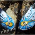 zapatillas lona Pintadas a mano -VentacolorS